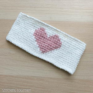 Here's My Heart Headband Crochet Pattern