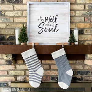 Country Crochet Christmas Stocking