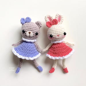 Bear And Bunny Buddies Amigurumi Dolls