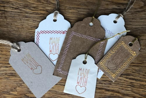 Make Your Own Kraft Tags - 'handmade With Love'