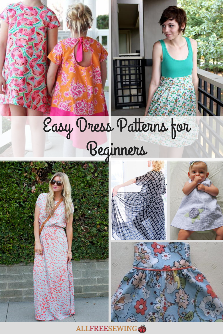 4+ Easy Dress Patterns for Beginners  AllFreeSewing.com
