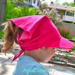 Bandana Visor Hat Sewing Pattern