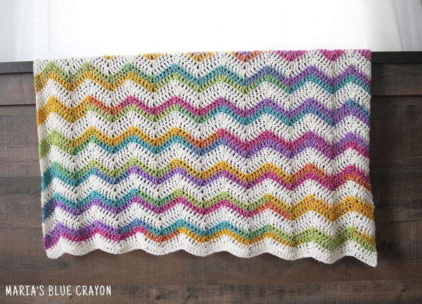 Rainbow Chevron Baby Blanket