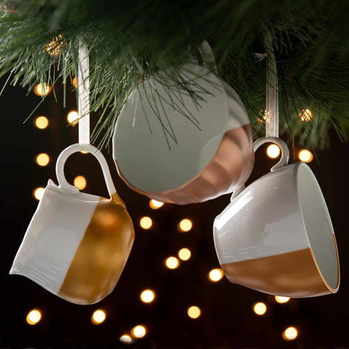 Metallic Teacup Ornaments