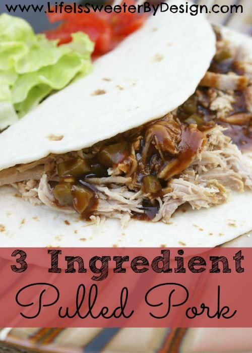 3 Ingredient Pulled Pork Recipe