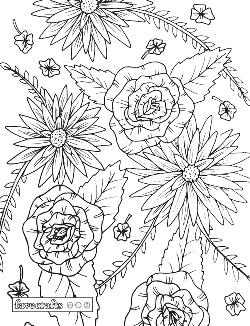 Beyond Joyful Floral Coloring Page