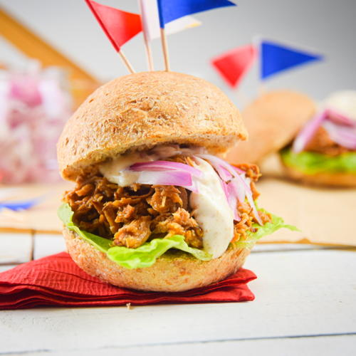 Pulled Pork Sliders For 4th Of July
