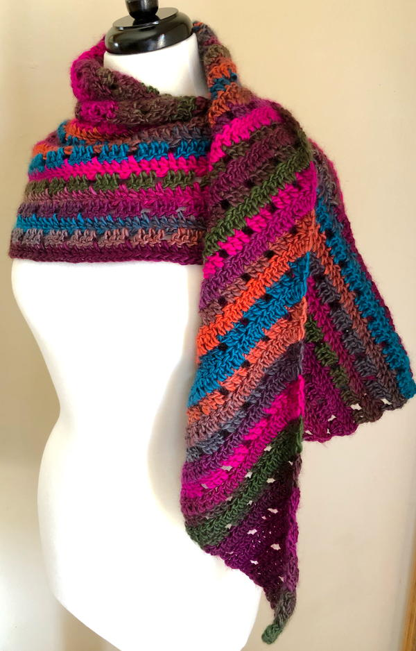 Tropical Summer Evening Shawl
