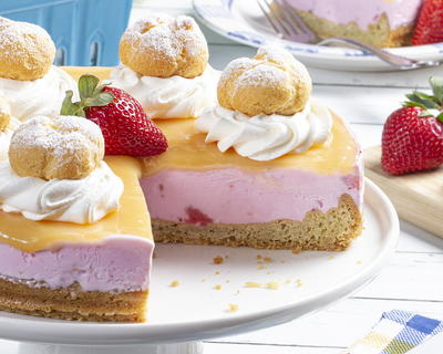 Strawberry-Lemon Ice Cream Tart