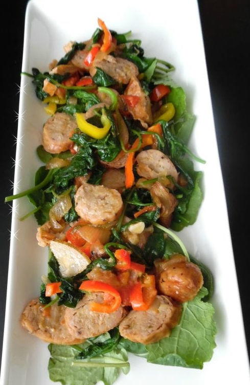 Chicken Sausage & Vegetable Paleo Dinner