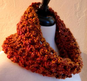 Golden Harvest Infinity Cowl Crochet Pattern
