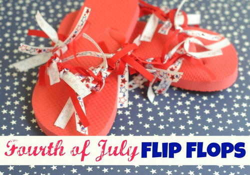 How To Make Fun Fourth Of July Flip Flops