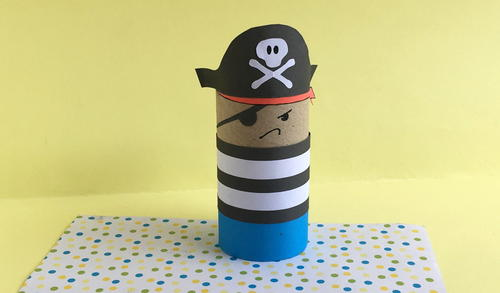 Toilet Paper Roll Pirate Craft For Kids