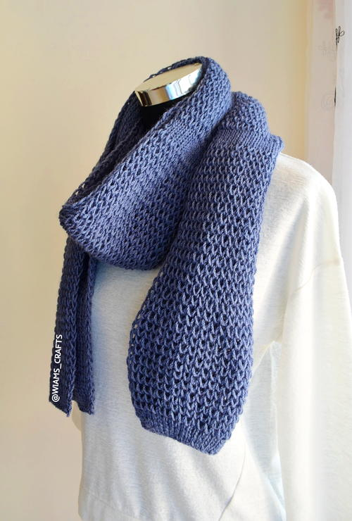 Midnight Blue Scarf