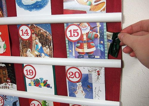 Recycled Cards Advent Calendar