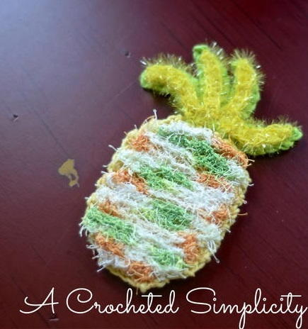 Double Sided Pineapple DishFaceBody Scrubby