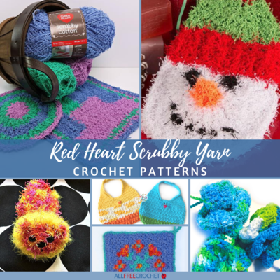 20 Red Heart Scrubby Yarn Crochet Patterns