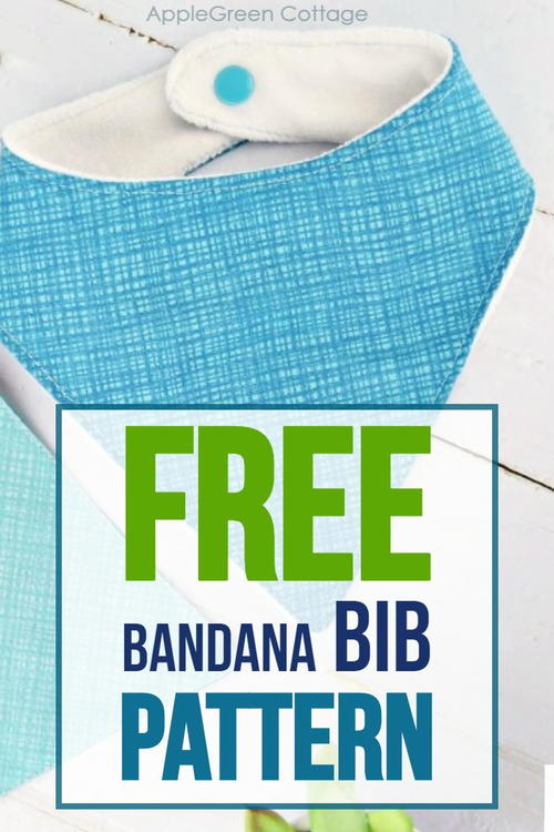 Free Bandana Bib Pattern - In 2 Sizes!