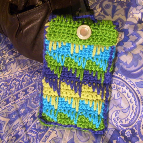 Diamond Spike Stitch Glasses Case