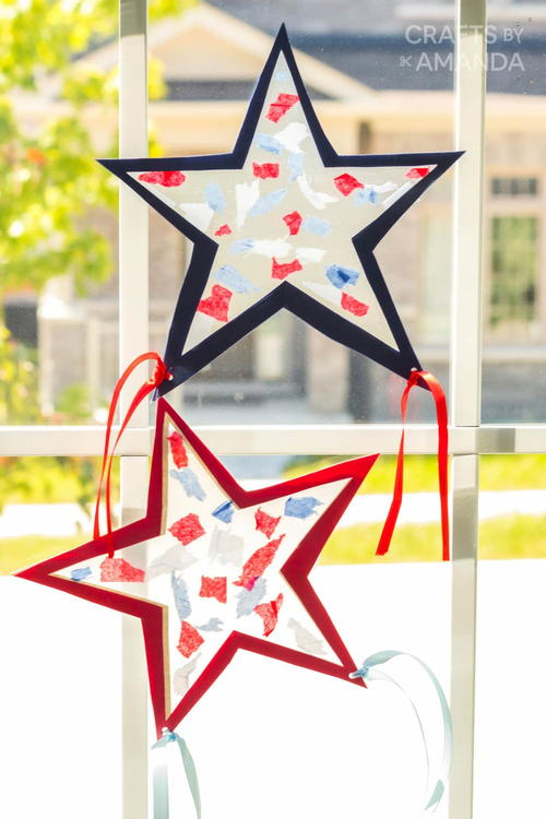 Fourth Of July Suncatchers
