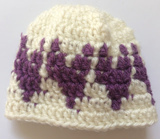 Hearts Baby Beanie Pattern