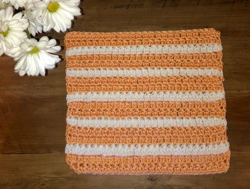 Peaches & Cream Washcloth