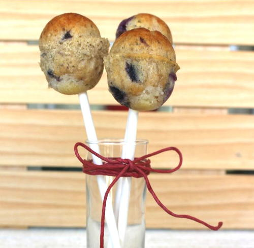 Blueberry Muffin-pops