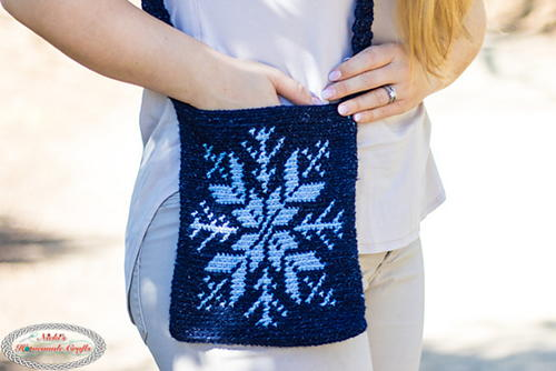 Snowflake Tapestry Bag