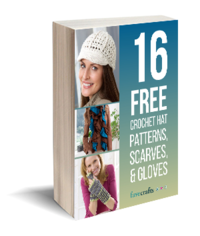 16 Free Crochet Hat Patterns, Scarves, & Gloves eBook