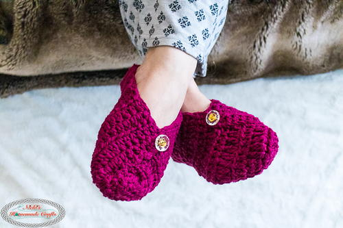 Button Slippers From Square