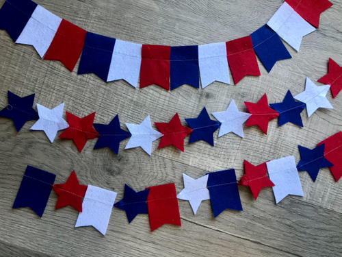 Red, White & Blue Patriotic Garland