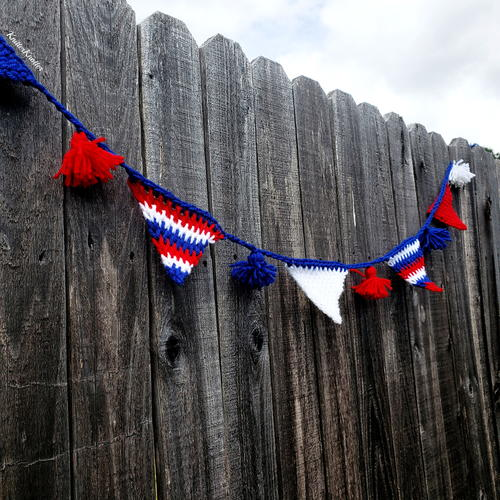 Patriotic July 4th Tunisian Bunting