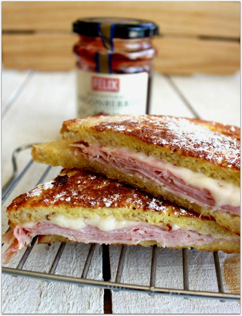 Monte Cristo Sandwich With Lingonberry Dipping Sauce