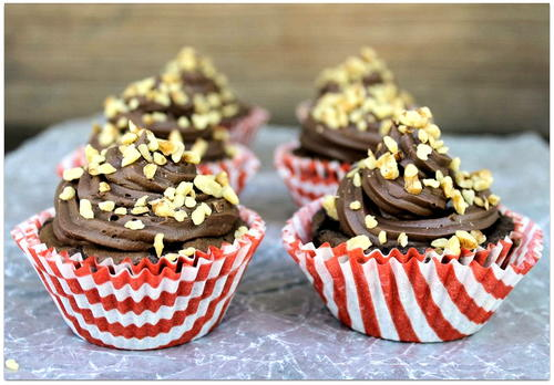 Banana Nut Fudge Brownie Cupcakes