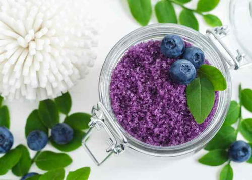 Blueberry Lemon Easy Sugar Scrub Recipe