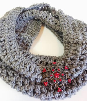 Simple Heather Grey Cowl