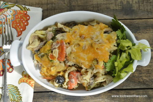 Not-your-average Garden Vegetable Tuna Casserole