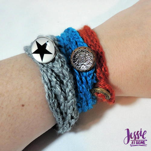 Simple Knit Wrap Bracelet