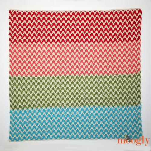 Bright Chevron Borderless Blanket