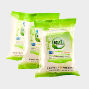 Biodegradable Fruit & Vegetable Travel Wipes Giveaway
