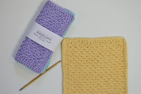 Easy Tunisian Honeycomb Stitch Dishcloth