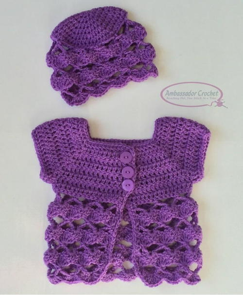 Tea Time Baby Sweater & Hat Set
