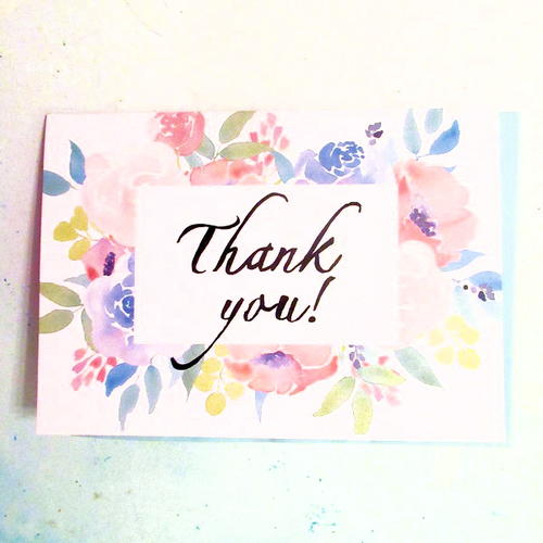 Free Printable Thank You Greeting Card