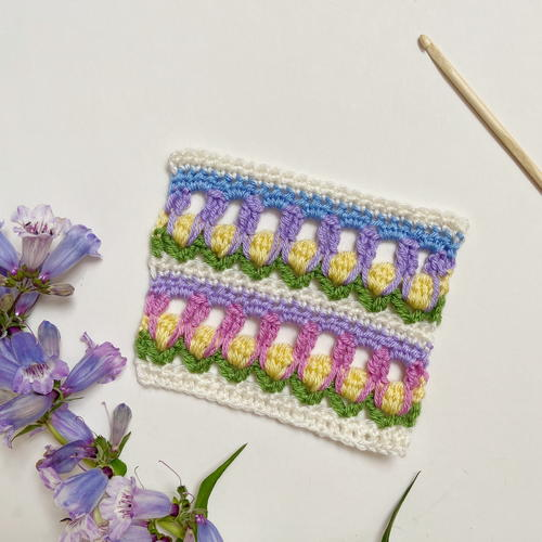 Field Of Flowers Crochet Stitch