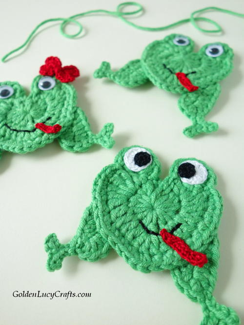 Crochet Frog Applique