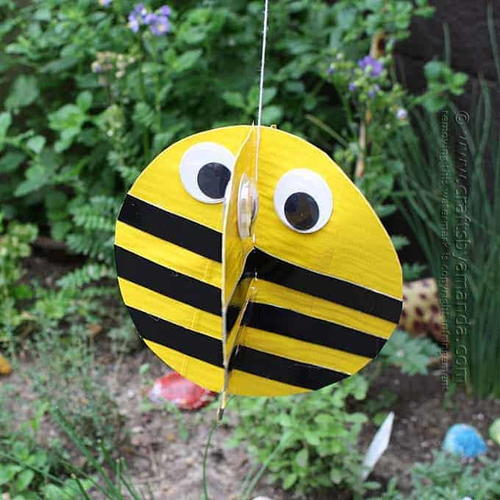 Duct Tape Twirling Bee Craft