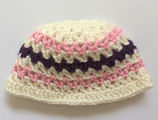 Pink And Purple Baby Beanie