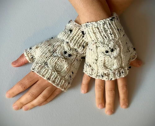 How To Knit Fingerless Gloves – With Owls!