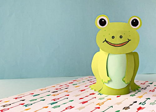 Fun Frog Toilet Paper Roll Craft For Kids