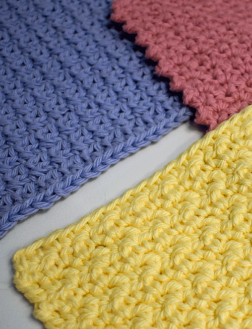 Pretty Textured Washcloths